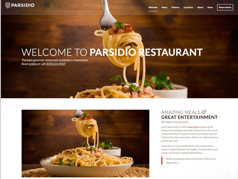WordPress Restaurant Theme