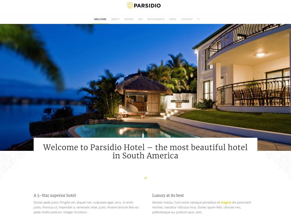 WordPress Website for Hotel Website
