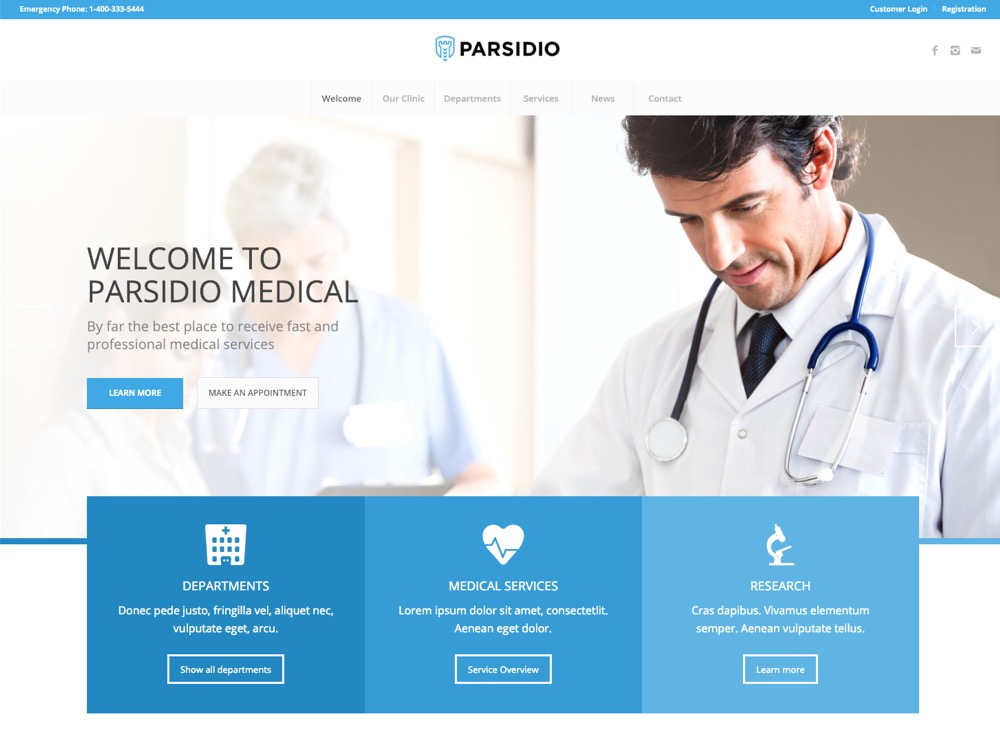 Theme For Medical Website