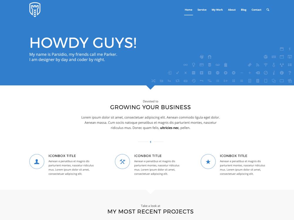 WordPress Standard Business Theme - Parsidio