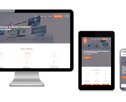 Responsive website on PC, Tablet and Mobile